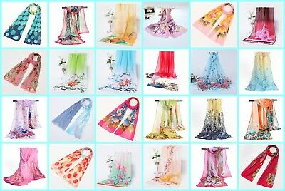 10pc lot Wholesale Fashion Scarf skull Marilyn Monroe polka dot chiffon scarf
