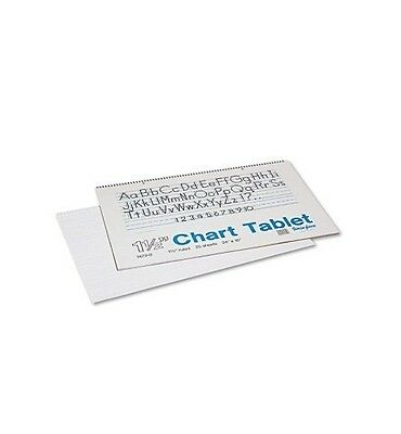Pacon Chart Tablets w/Manuscript Cover Ruled 24 x 16 White 25 Sheets Per Pad