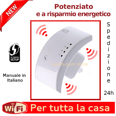 AMPLIFICATORE 2016   WIFI REPEATER 300 Mbps WPS RIPETITORE WIFI RANGE EXTENDER