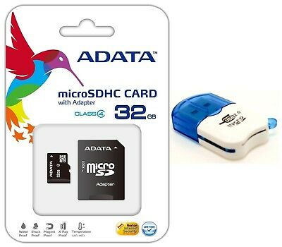32GB Micro SD SDHC Card Tf Flash Memory Card Reader for Go Pro HD HERO 3 Camera