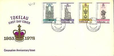 28/6/1978 Tokelau Islands First Day Cover FDC - Coronation Anniversary Issue