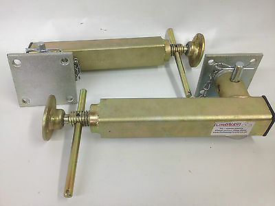 Ifor Williams Pair of Jack Legs Prop Stands Drop Stand & mounting spigot plates