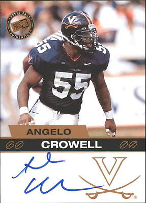2003 Press Pass Autographs Bronze #9 Angelo Crowell Rookie Card RC