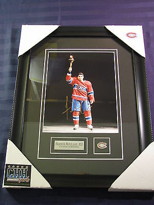 Francis Bouillon Montreal Canadiens signed 8x10 AUTO photo Frame Cadre HABS