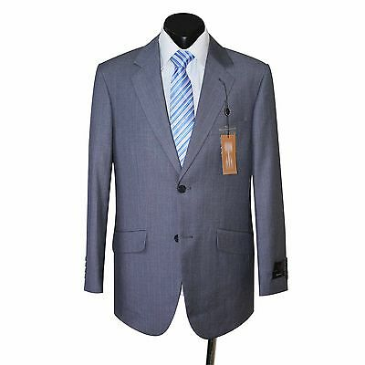 Mens Grey Pinstripe Pure Wool Suit Jacket And Trousers