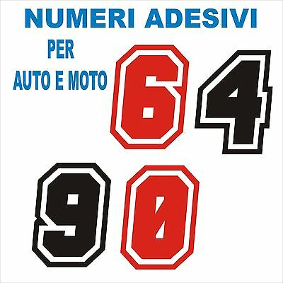 Numero Ni Adesivi Stickers Tuning Decorazione Racing  Auto Moto