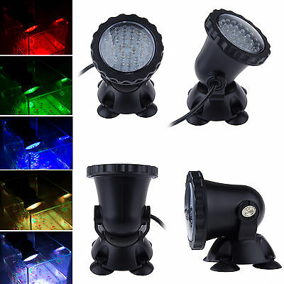 36 Led RGB Fish Tank Pool Pond Garden Water Underwater Aquarium Spot Light Lamp