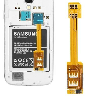 ELETTRONICA Dual SIM Card Adapter for Samsung Galaxy S5/G900, S IV/i9500, S III