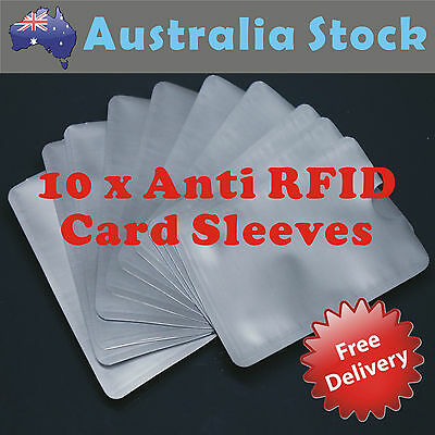 10 x ANTRFID, Blocking Credit Card Identity Protection Scan Safe Sleeve