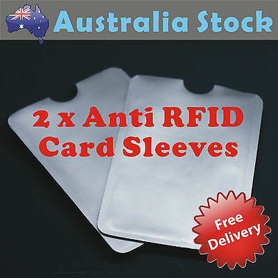 2 x ANTI RFID, Blocking Credit Card Identity Protection  Scan Safe Sleeve