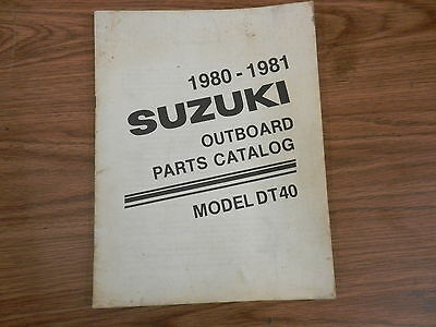 DT40 DT 40 HP Outboard motor manual  book Parts Catalog 1980 1981
