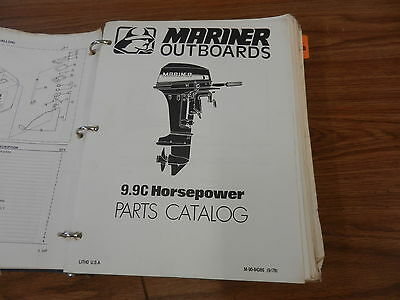 9.9C number 2 Mariner Outboard motor parts manual  book