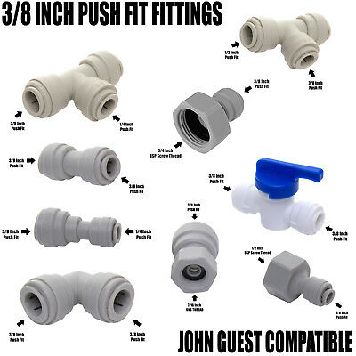 "Compatible with John Guest JG  3/8"" Push Fit Tap, Beer Cooler, Pump Connections"