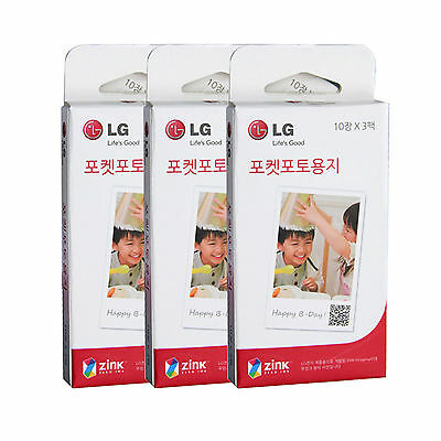 LG Pocket Photo PoPo Zink 90 Sheets Paper for PD239 PD221 PD251 PD269