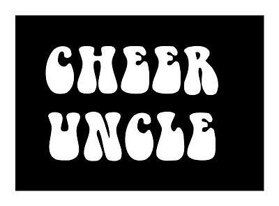 Cheer Uncle 4X6 Bubble Cheerleader Sports I Pad Laptop Car Window Decal Sticker