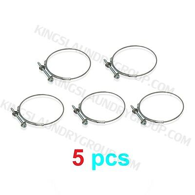 "5 pcs New  2-3/4"" X 3-1/8"" Hose Clamp For Wascomat Part # 787104"