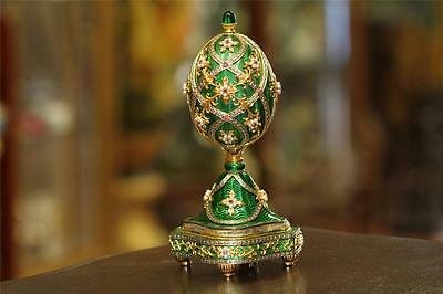 Franklin Mint House Of Faberge Imperial Jeweled Musical Egg The Garden Of Jewels