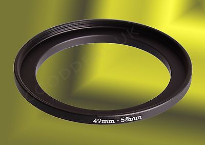 49mm to 58mm 49-58mm 49mm-58mm 49-58 mm Stepping Step Up Filter Ring Adapter UK