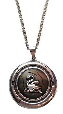 """Once Upon A Time TV Series EMMA SWAN Talisman Pewter Finish PENDANT on 18"""" Chain"""