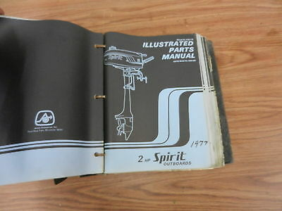 1977 2 HP Spirit outboard motor parts list manual book