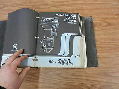 1977 50 HP Spirit outboard motor parts list manual book