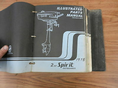 1978 2 HP Spirit outboard motor parts list manual book