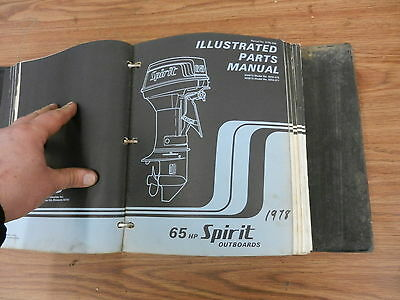 1978 65 HP Spirit outboard motor parts list manual book