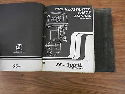 1979 85 HP Spirit outboard motor parts list manual book
