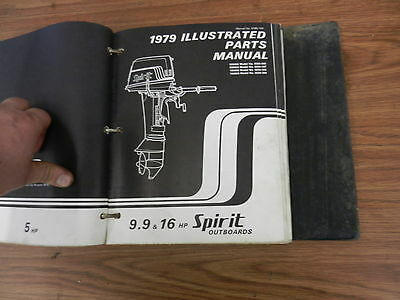 1979 9.9 16 HP Spirit outboard motor parts list manual book