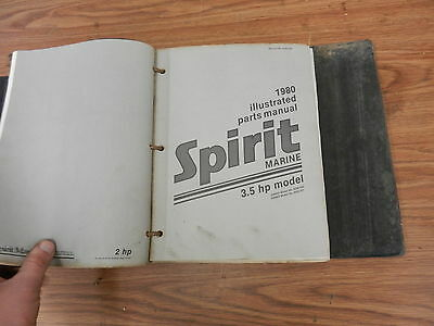 1980 3.5 HP Spirit outboard motor parts list manual book
