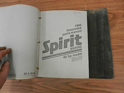 1980 40 HP Spirit outboard motor parts list manual book