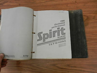 1980 5 8 HP Spirit outboard motor parts list manual book