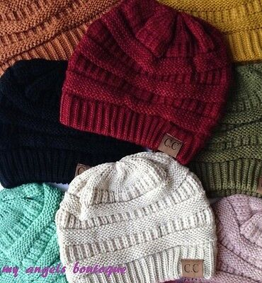CC Beanie Unisex Hat Cap Knit Slouchy Thick Oversize Genuine