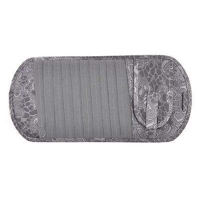 Flower Pattern Sun Visor 11 CD VCD Storage Case Gray for Van Car Truck