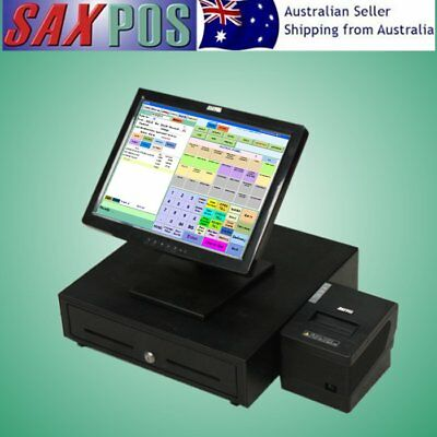SAXPOS S2001 Complete TouchScreen (Point of Sale) POS System with Software