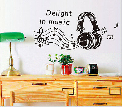 MUSIC NOTES PLAY WRITE Removable Vinyl Wall Stickers Art Mural Home Decor Decal