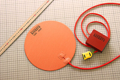 "Dia 10"" Round Silicone Heater Kettle Vacuum Chamber Pad +Digital Controller 120V"