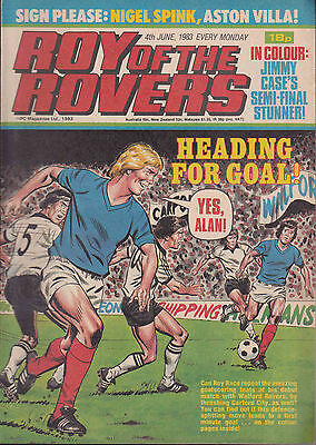 ROY OF THE ROVERS 04-06-1983 Nigel Spink ASTON VILLA (Free Postage)