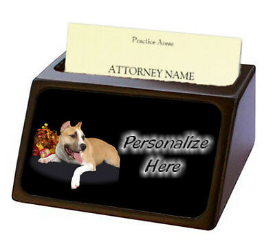 American Staffordshire Terrier  Pet Breed  Personalized Business Card Holder