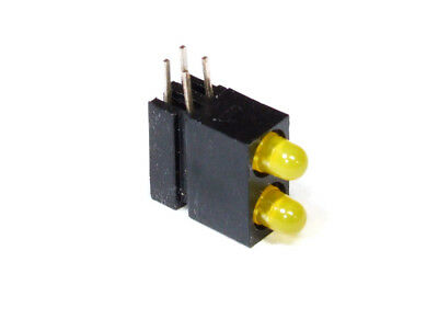 10x Dual Double LED Light Emitting Diodes Yellow / Doppel-LED Leuchtdioden Gelb
