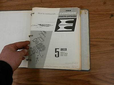 1968 HP 5 Johnson Evinrude outboard motor parts list manual book
