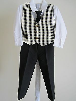 NWOT Boy's 4pc Suit 3T Kid Childs Photo Church School Wedding Holiday Outfit Set