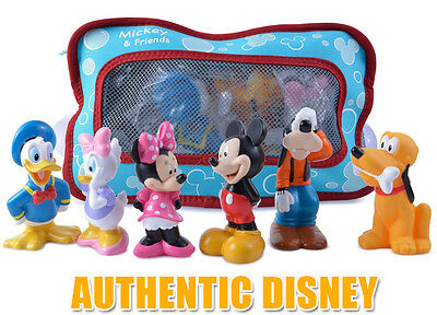 Disney Mickey Mouse Clubhouse Bath Toy Set  Minnie Mouse Donald Duck Goofy Toys