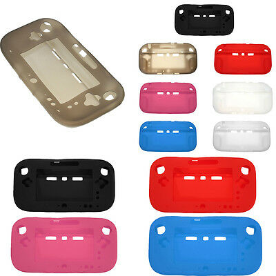 Silicone Back Case Cover Protector for Nintendo Wii U Tablet Style GamePad New