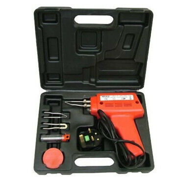 100 Watt Electric Soldering Gun Iron Kit + 3 Tips + Case  100W Solder 240V