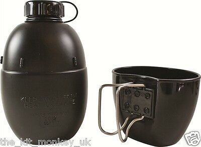 Genuine British Army Issue - NATO Osprey 58 pattern Water Bottle & Mug / Cup