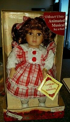 """Collector's Choice Animated Musical Wind Up Doll plays """"I LOVE YOU TRULY"""""""