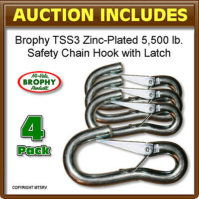 CRB - Trailer Latching Safety Chain Hook - TSS3 - 4-PACK - 5,500 lbs/each - NEW