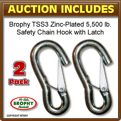 CRB - Trailer Latching Safety Chain Hook - TSS3 - 2-PACK - 5,500 lbs/each - NEW