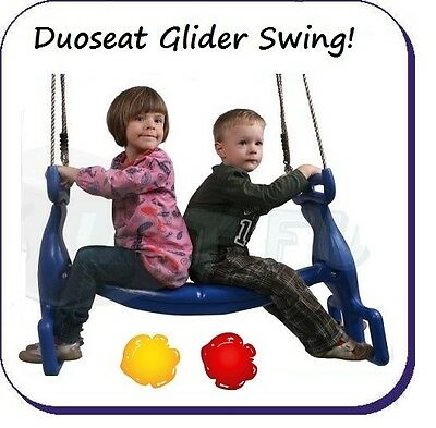 KIDS SWINGSET GLIDER SWING DOUBLE SEAT PLAYSET for CLIMBING FRAME FREE  POSTAGE!